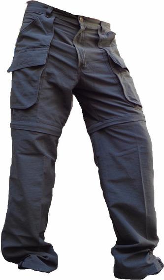 Pantalon Ripstop Bermuda Desmontable Secado Rapido Cuotas Sin Interes Rip Stop Hombre Cargo Trekking Running Deporte