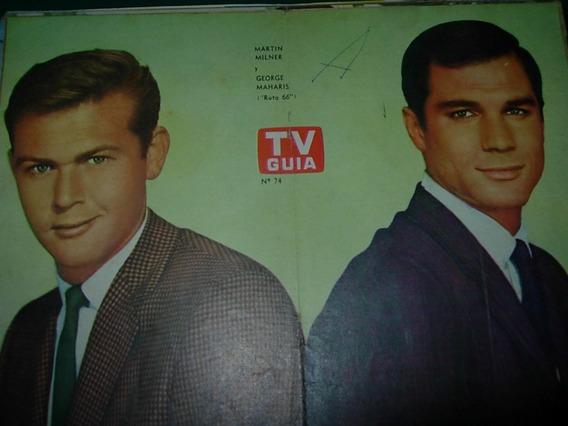 Milner Maharis Ruta 66 Poster Original Tv Guia Television