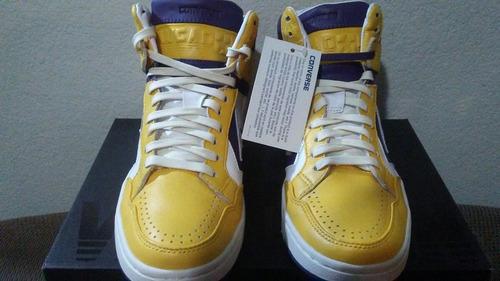 plato Larry Belmont Cinco  Tenis Converse Weapon Lakers. Magic Johnson 9.5us 27.5mx 7.5   Mercado Libre