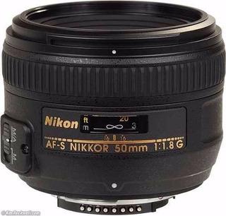 Lente Nikon 50mm Af-s Nikkor F: 1:1.8 G