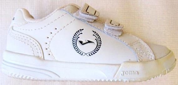 Zapatillas Escolares Joma Blanca Classic Sin Cordones Gtìa