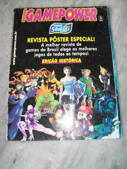 Revista Poster Especial Supergamepower - Os Melhores Games