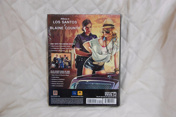 Livro - Grand Theft Auto V Limited Edition Strategy Guide