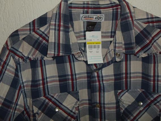 Camisa Urban Up Fashion Western Deshilachada Nueva T L