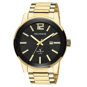 Relógio Technos Masculino Golf Dourado Esportivo 2115tt/4p