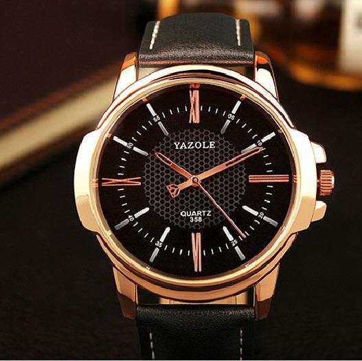 Relógio De Pulso Gold Rose Unissex