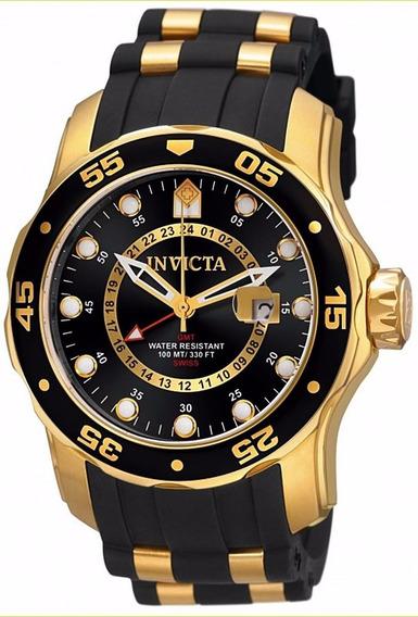 Relógio Invicta Pro Drive Banhado A Ouro.