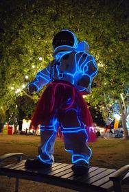 Fio De Luz Neon Azul Hutz 3 Metros Ø5mm C/ Controle