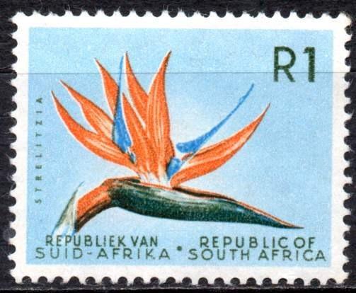 Sudáfrica 1961/62. R1 Con Flor Strelitzia, Filigrana Escudo