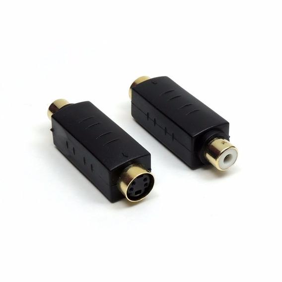 5 Adapt Conector Star Cable Jack Svhs Femea X Plug Rca Femea