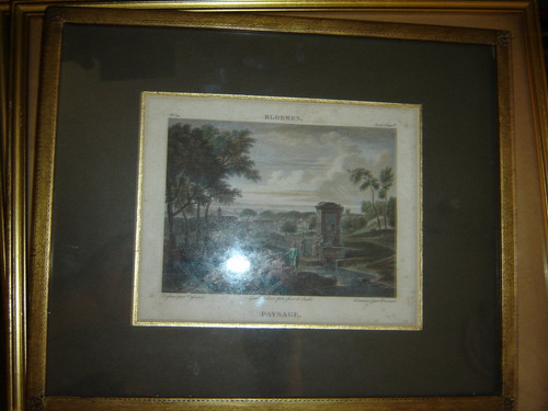 Grabado Bloemen Paysage