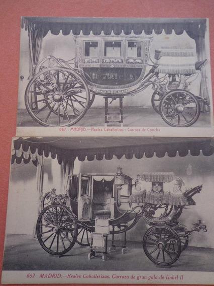 Lote 3 Antiguas Postales De España - Carrozas Reales