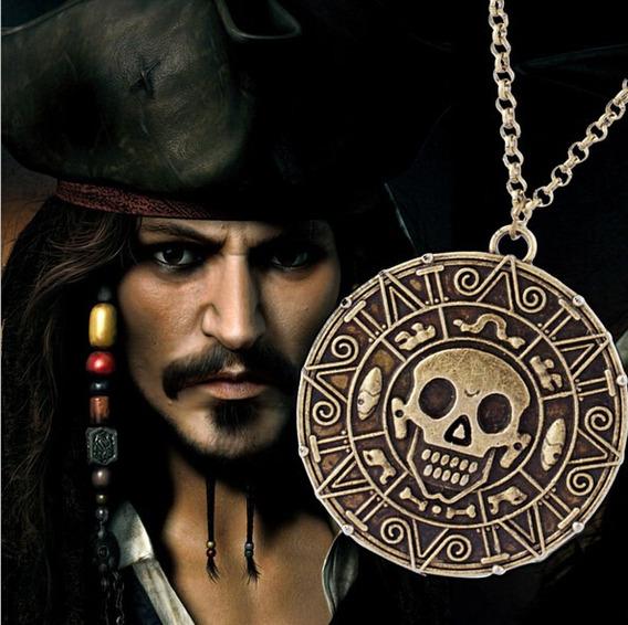 Colar Cordão Johnny Depp Piratas Do Caribe Pingente Caveira