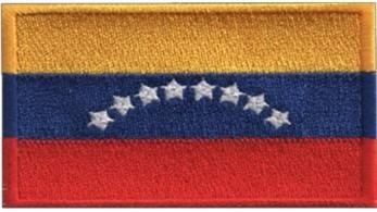 Imagen 1 de 4 de Parche Insignias Bordados Bandera De Venezuela 8 Estrellas