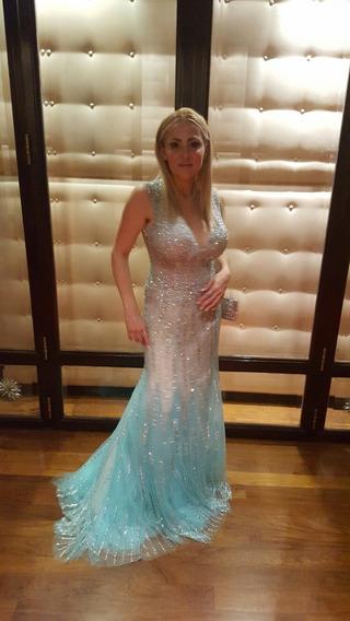 Vestido De Fiesta Importado De Gala