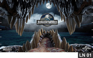 Jurassic World Dinossauro 3,00x1,70m Painel Aniversário