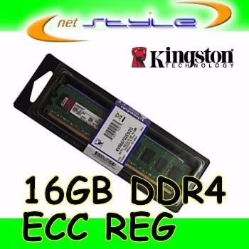 Kingston 16gb Ddr4 Ecc Reg P/ Hp Proliant Dl360 Gen9 G9
