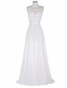 Vestido Blanco Novias Talla 10 Modelo Delpilar Ng 03