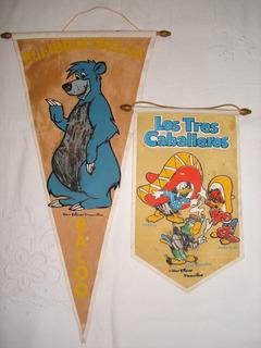 Antiguos Banderines Walt Disney De Coleccion