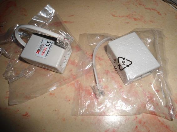 Microfiltros Adsl (2 Nuevos Nunca Usados) Y Cable Rj11 1mt