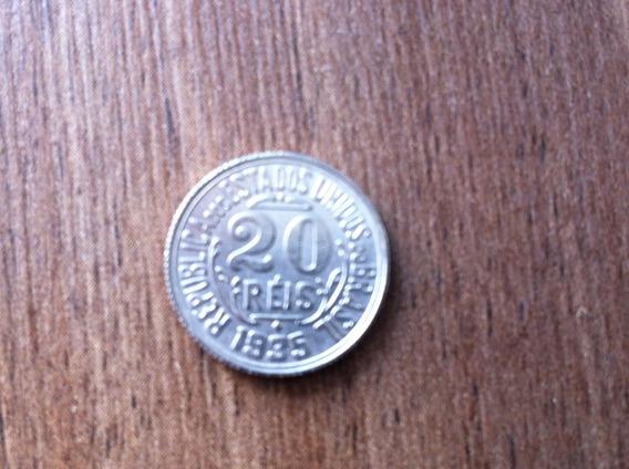 Magnífica E Rara Moeda De 20 Réis Anos 1935 Réplica