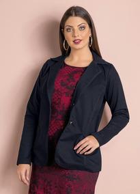 Blazer Feminino Plus Size Outono Inverno Pronta Entrega