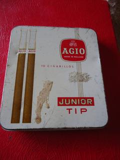 Antigua Lata De Cigarros Agio De Procedencia Holandesa