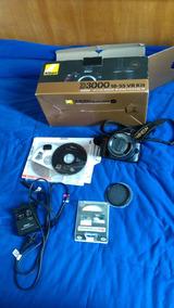 Câmera Nikon D3000 Impecável Com 18731 Clicks