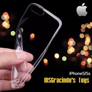 iPhone 5s Capa Fumê Gel Ultra 0.4mm + Película Vidro