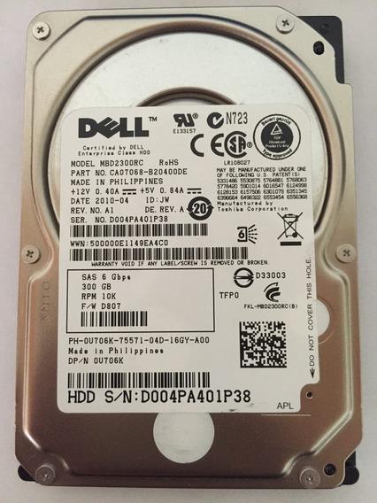 Hd Dell 300 Gb 10 K 6 Gbps Pn: 0u706k