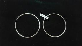 Brinco Feminino De Prata 925 Legítima Perfil Tubular