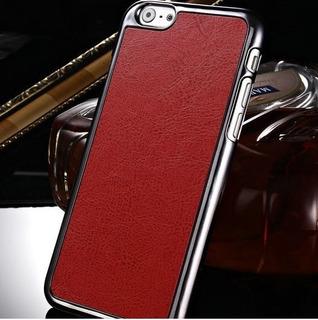 Capa Celular iPhone 6 Couro Preta Marrom Rosa Verm+brinde