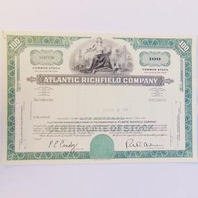 Apólice Letra Ação Atlantic Richfield Company Documento 1969