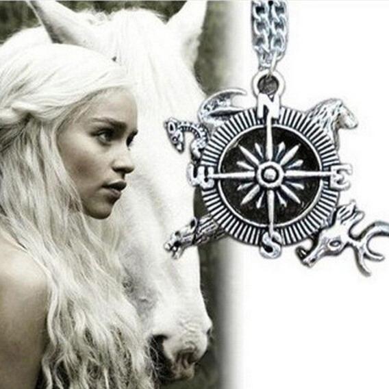 Colar Bússola Westeros Canção De Gelo E Fogo Game Of Thrones