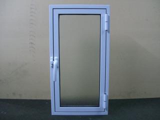 Ventana Abrir Batiente 0.30 X 0.60 Aluminio Blanco C/ Vidrio