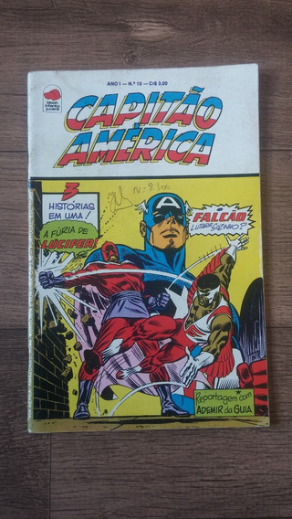 Revista Hq Capitão America N°10 Bloch Frete 10 Reais