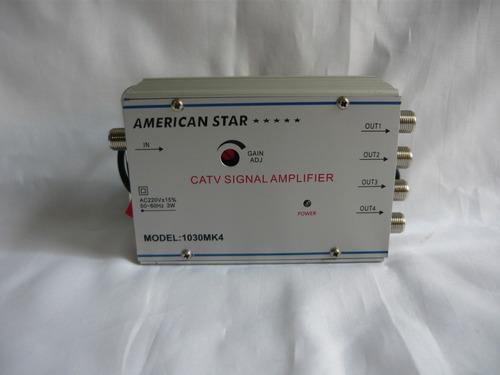 Amplificador De Señal Catv -  Con 4 Salidas