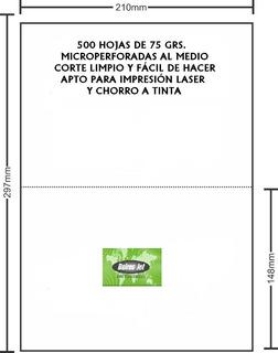 Resma Husares 7844 Microperforado Al Medio Caja X 5 Unidades