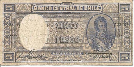 Cédula - Chile - 5 Pesos - 1947-1948 - Cat#79