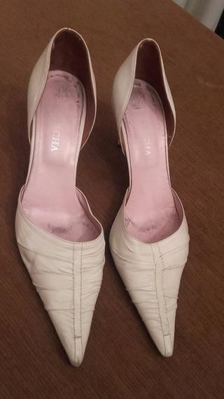 Zapatos Mujer Natacha Tipo Stileto Talle 39 Crema
