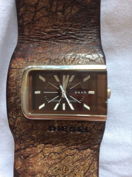 Relógio Diesel Original Couro Marrom
