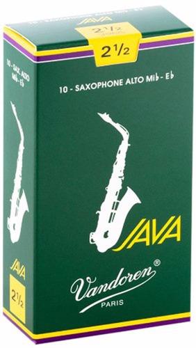 Pack De Cañas Vandoren Java Sr2625 De Saxo Alto N2.5 X10u