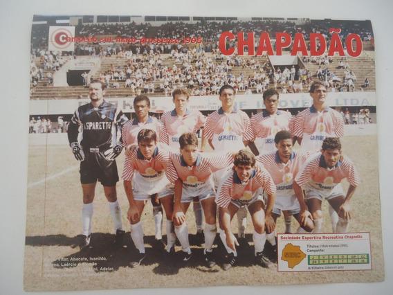 Chapadão Campeão Sul Mato-grossense 95 Poster Placar Avulso