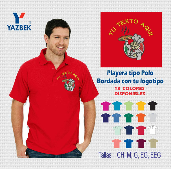 5 Uniformes Industrial Playera Polo Con Logo Bordado