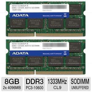 Kit 8gb (2x4gb) Ddr3 Macbookpro82 2.0ghz 2.2ghz 2.3ghz 2(m2)