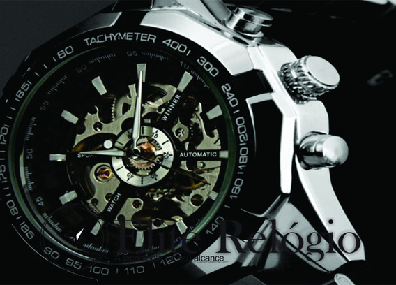Relógio Automático Skeleton ( Preço Promocional)