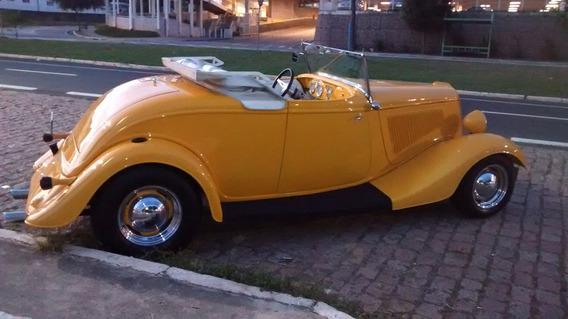 Hot Rod 1934 V8 Chassi De Inox Garage Carangas Newcar