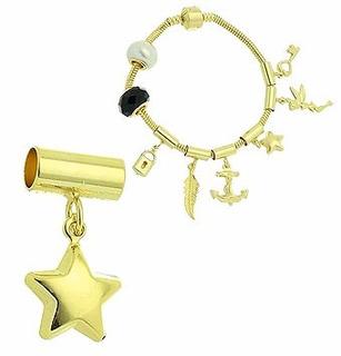 Berloque Folheado A Ouro Em Forma De Estrela