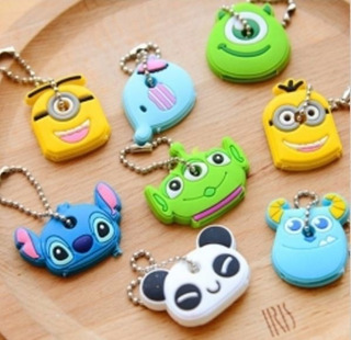 5x Case Chave Sulley Mike Panda Toy Story Chaveiro