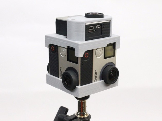 Suporte Gopro Hero 4/3 Rig 360º Vr Realidade Virtual 3d 5cam